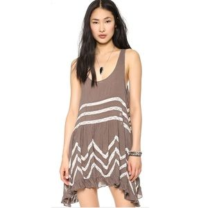 Free People voile and lace trapeze slip dress M